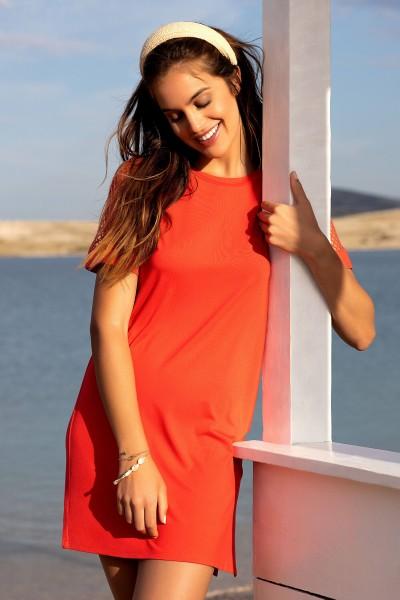 Туника с рукавами в сетку »Ibiza«