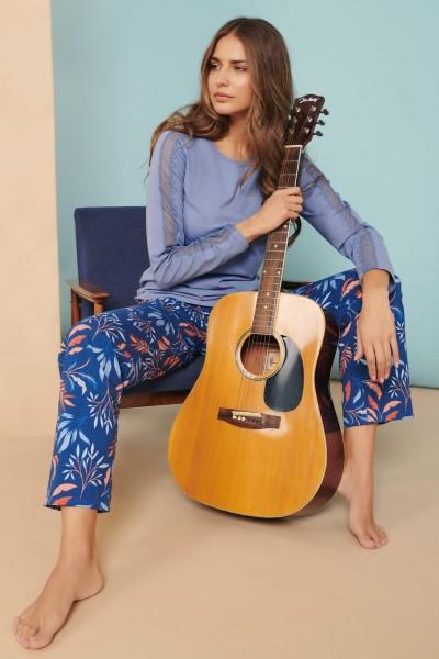 Пижама: топ с длинными рукавами и брюками »Mellow«