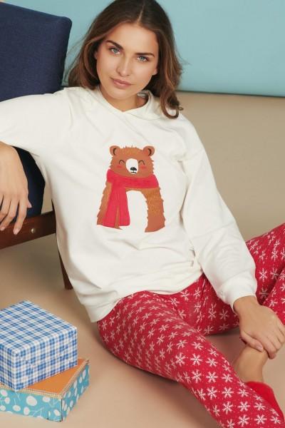 Женская пижама: худи с длинными рукавами и леггинсами »Wonderland«