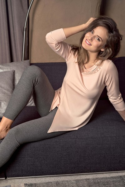Пижама с туникой и брюками леггинсы «Charlene»