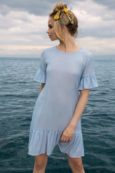 Платье с коротким рукавом «Jeans Mix»