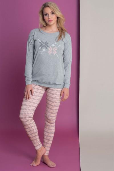 Пижама – туника и леггинсы «Nordic Fun»